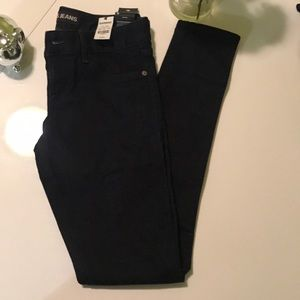 Express dark wash low rise legging Jeans